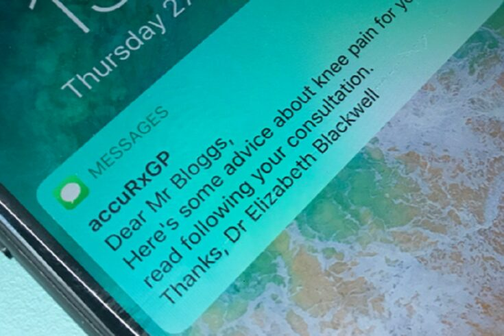 Text alerts for new, virtual GP consultations