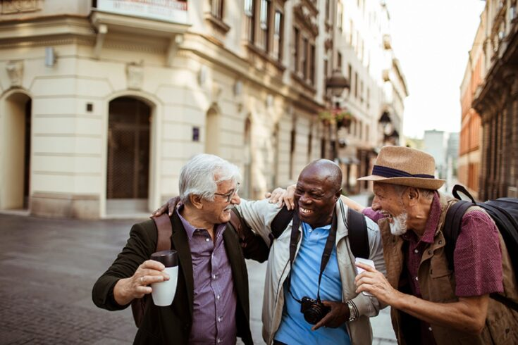 Three pensioners travelling together