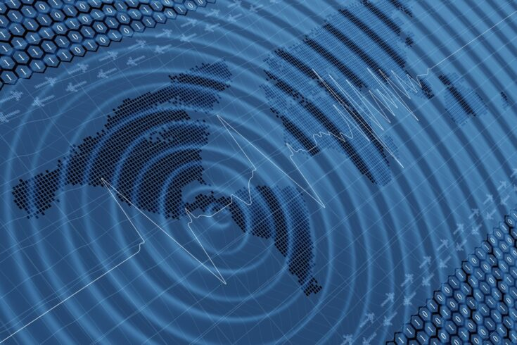 Earthquake impact wave and seismic activity