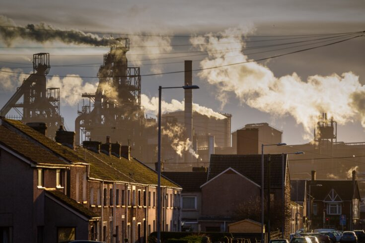 The houses of Port Talbot and the emissions of the TATA Steel works