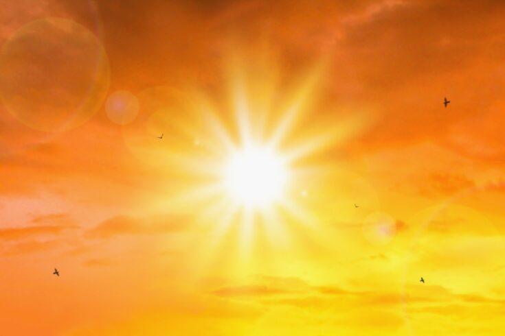 Orange sky sunset