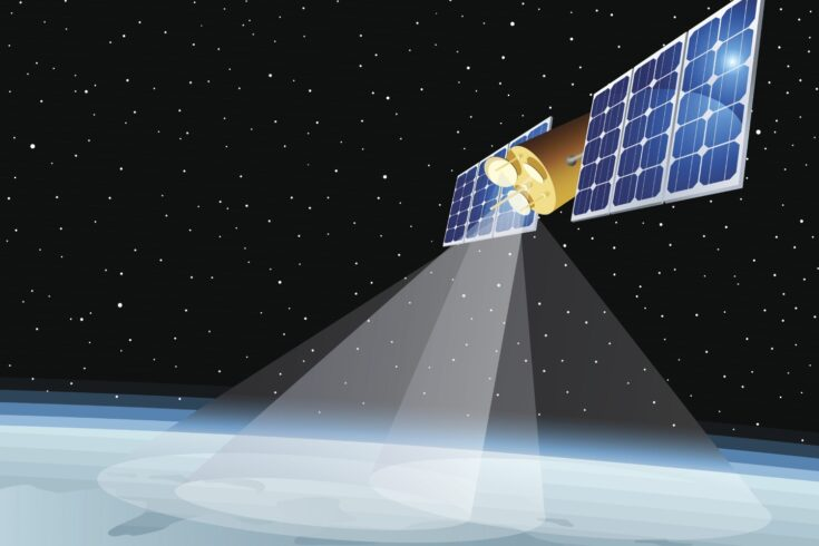 Partial coverage of the earth's surface by a satellite