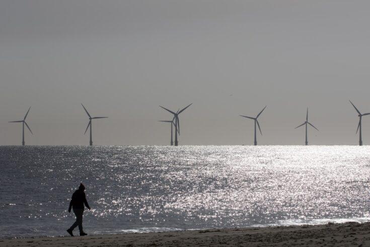 offshore wind farm turbines