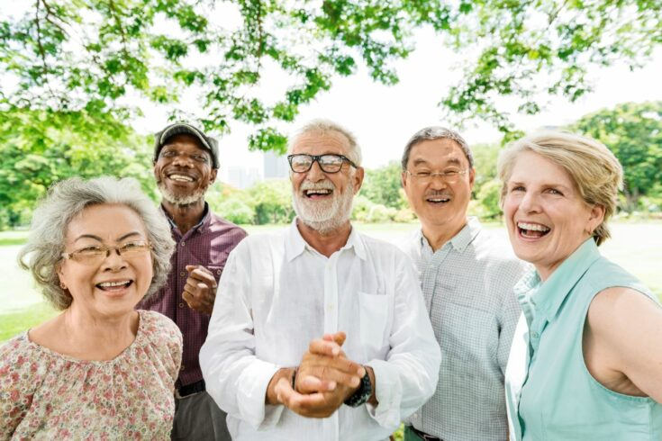 Group of senior retirement friends