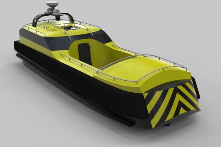 Semi-autonomous unmanned rescue vessels