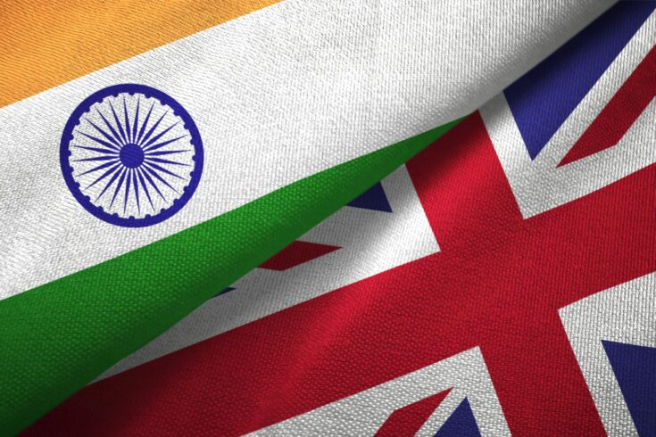 Flags of India and the UK