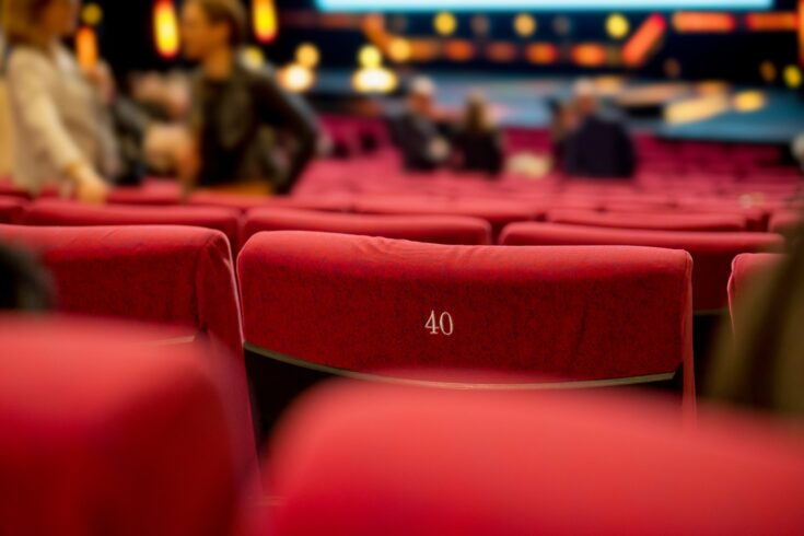 Theater with red seats