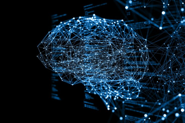 Abstract image of brain networks, artificial intelligence