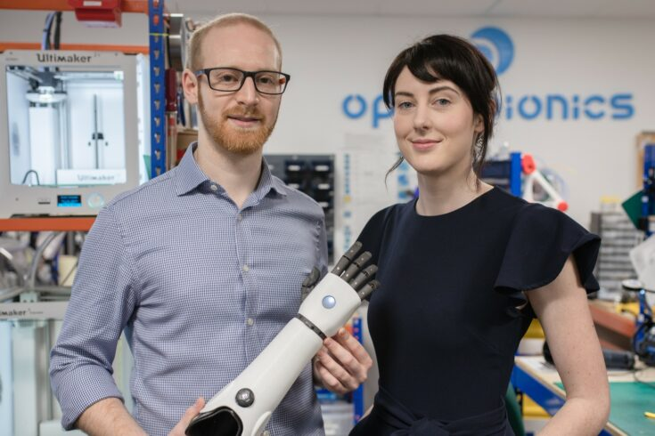 Joel Gibbard CEO and Samantha Payne COO of Open Bionics