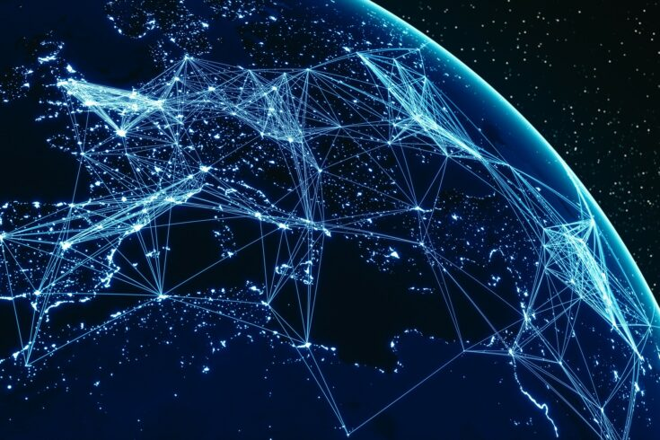 Global Communications (World Map Courtesy of NASA)