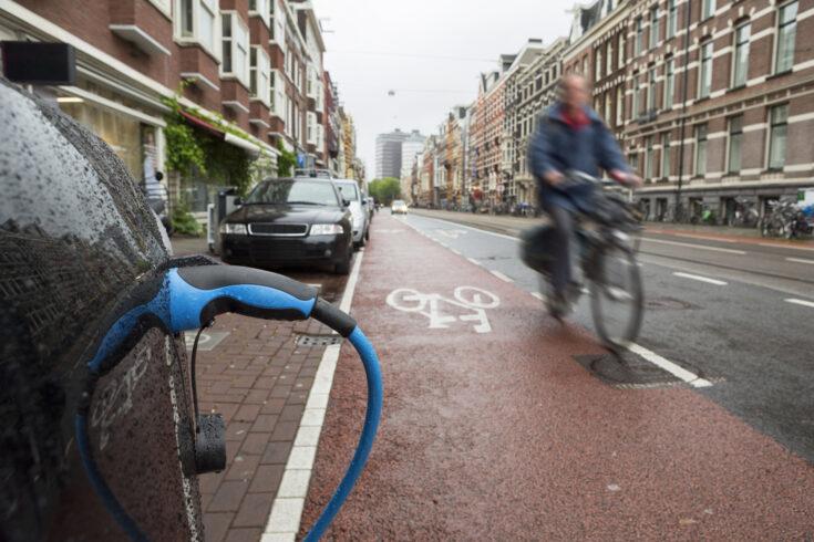 Recharging An Electric Car in Amsterdam