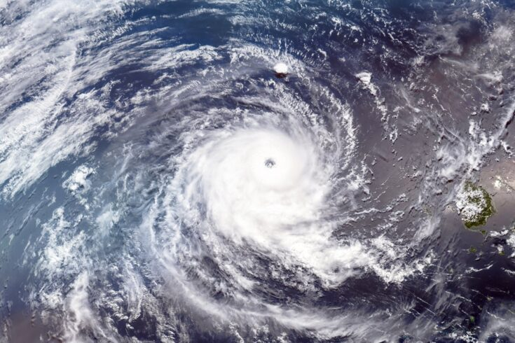 Satellite image of tropical cyclone Wilma