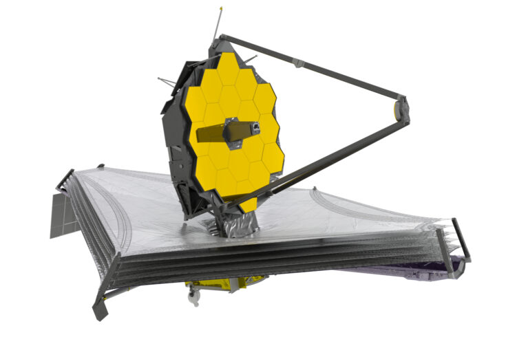 Artist's impression of the James Webb Space Telescope
