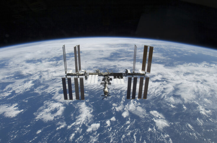 November 25, 2009 - The International Space Station in orbit above the Earth.
